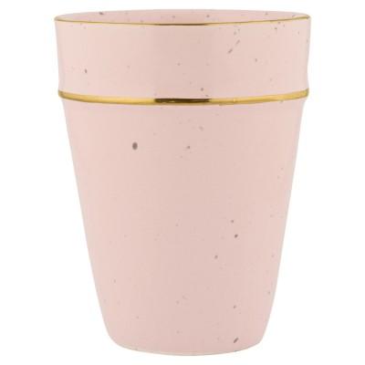 Стакан pale pink с золотой каймой 9,6см