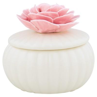 Шкатулка white со цветком large