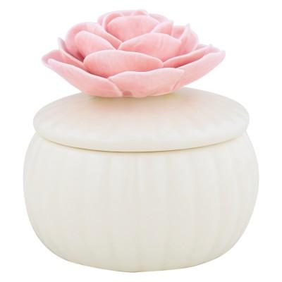 Шкатулка white со цветком small