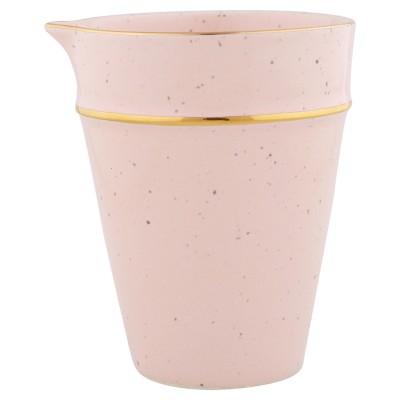 Молочник pale pink с золотой полосой