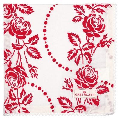 Салфетка Fleur red 40*40