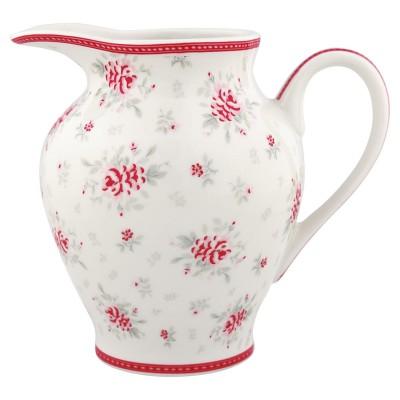 Молочник round Flora white