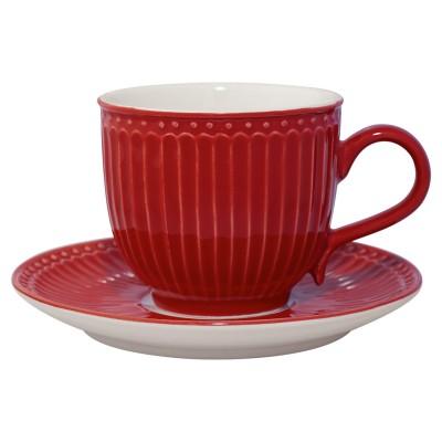 Чайная пара Alice red