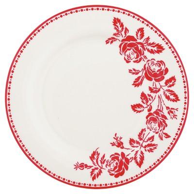 Тарелка Fleur red