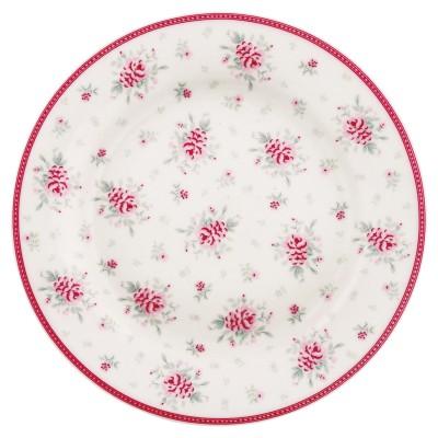 Тарелка Flora white