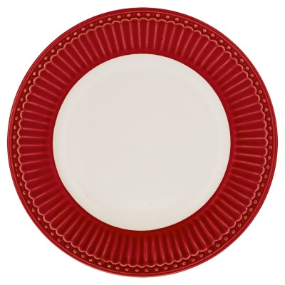 Десертная тарелка, блюдце Alice red