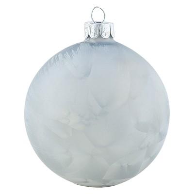 Шар новогодний Frosted pale grey