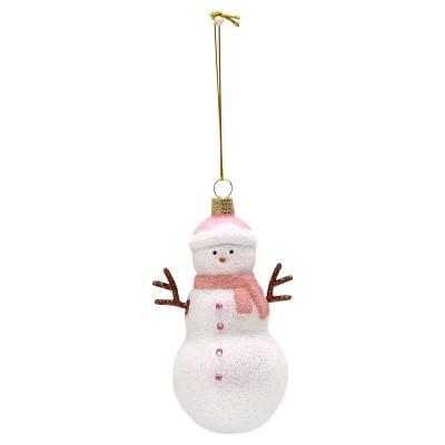 Новогодняя игрушка Snowman pale pink