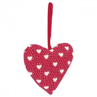 Набор их двух тканевых сердец Penny red