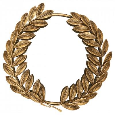 Зеркало круглое Leaf gold