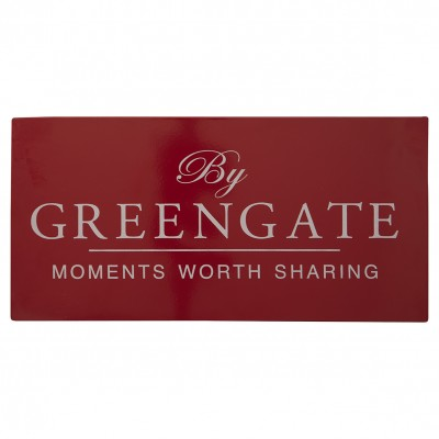 Металлическая табличка GreenGate red