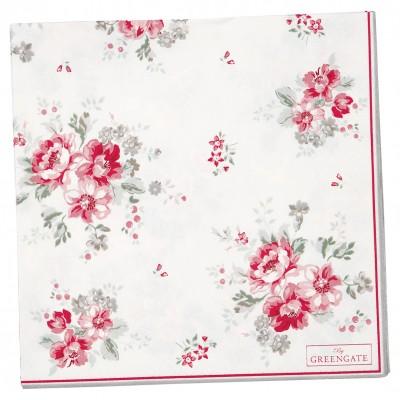 Салфетки бумажные Elouise white large 20 шт