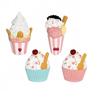 Набор из 4-х магнитов Ice cream pastel