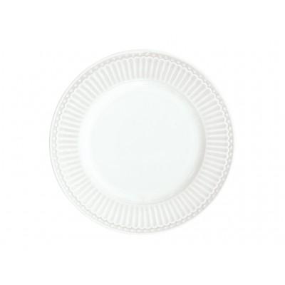 Десертная тарелка Alice white