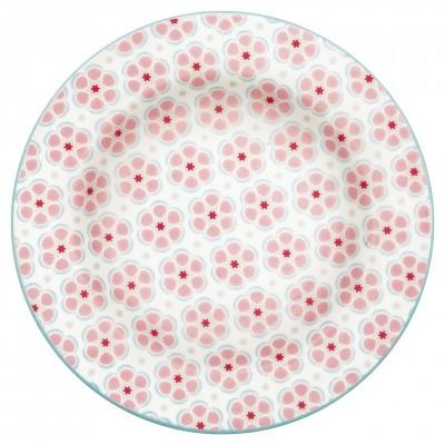 Десертная тарелка Leah pale pink 15 см
