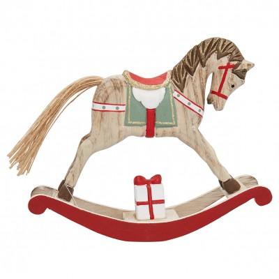 Декоративное украшение качалка horse red large
