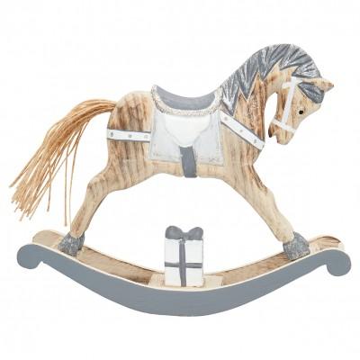 Декоративное украшение качалка horse grey large