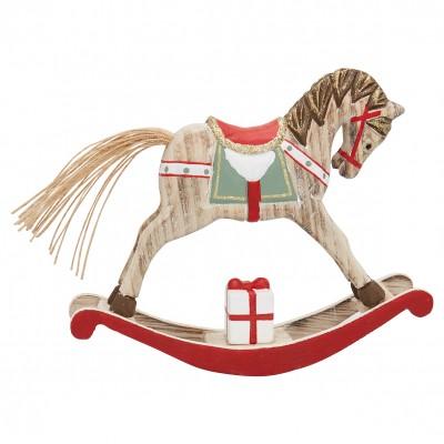 Декоративное украшение качалка horse red medium