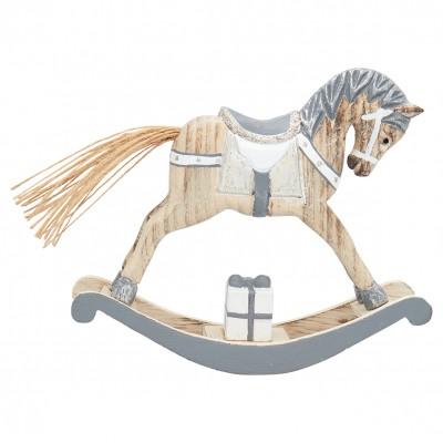 Декоративное украшение качалка horse grey medium