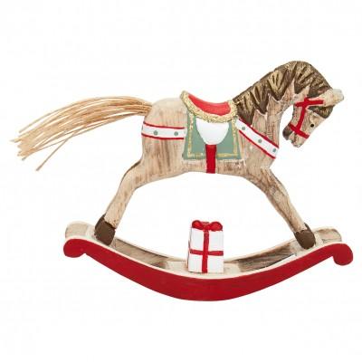 Декоративное украшение качалка horse red small