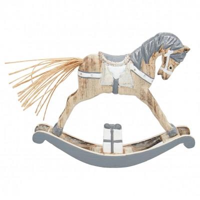 Декоративное украшение качалка horse grey small