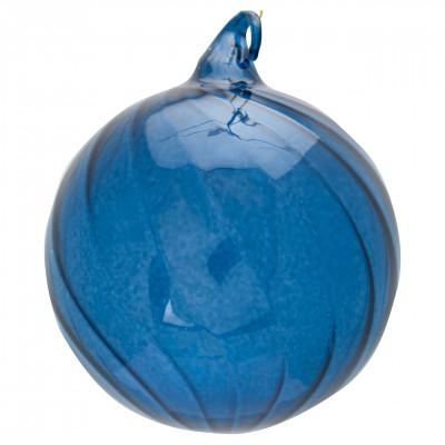 Новогодний шар Swirl blue large