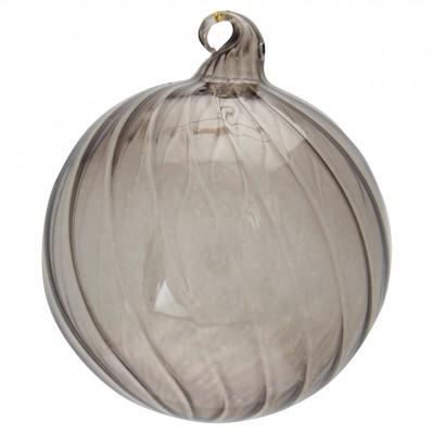 Новогодний шар Swirl grey large