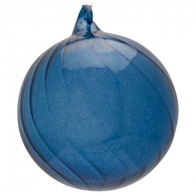 Новогодний шар Swirl blue