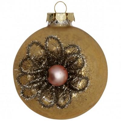 Новогодний шар Elouise vintage glitter flower