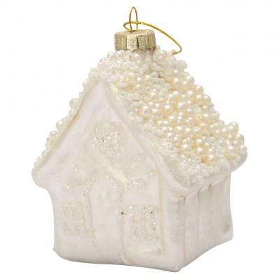 Новогодняя игрушка House white