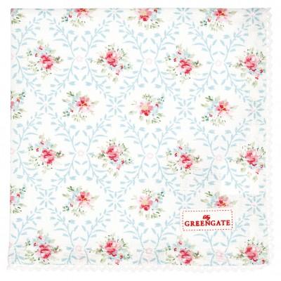 Салфетка  Daisy white w/lace