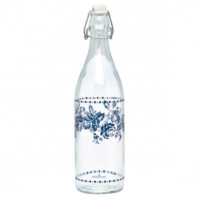 Бутылка стеклянная Fleur blue