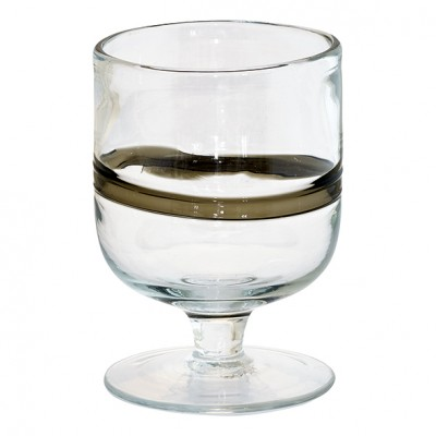 Бокал для вина w/stripe black