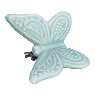 Декоративное украшение на клипсе Butterfly pale green w/clip large