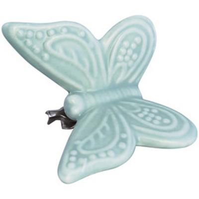 Декоративное украшение на клипсе Butterfly pale green w/clip small
