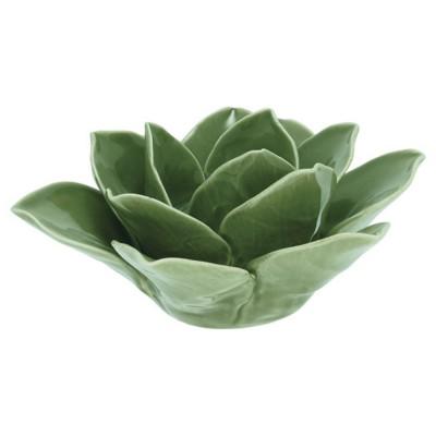 Подсвечник Flower Lotus green medium