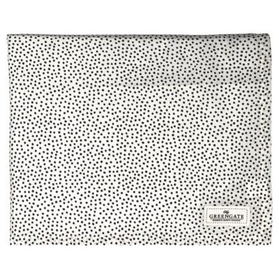 Скатерть Dot black 145x250 см