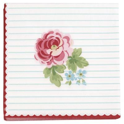 Салфетки бумажные Lily white 25x25 20 шт.