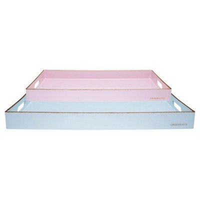 Набор из 2-х прямоугольных подносов pale blue