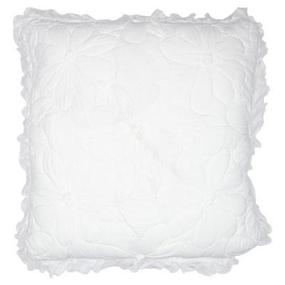Наволочка Flower white с оборкой 50x50 см