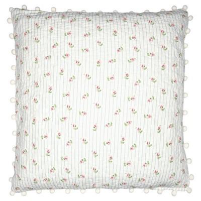 Наволочка Lily white с помпонами 50x50 см