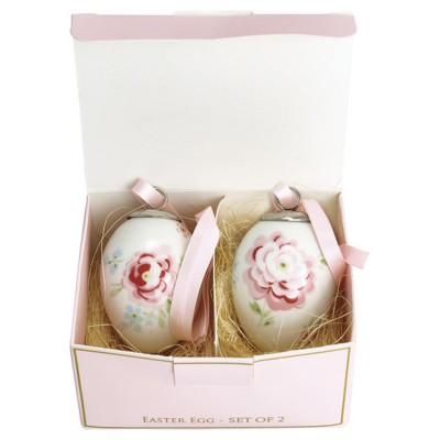Набор декоративных яиц Meryl white 2 шт.