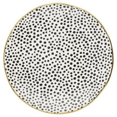 Блюдо Dot black w/gold