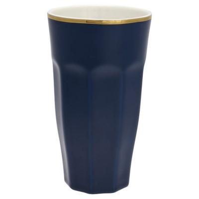 Стакан для латте dark blue w/gold