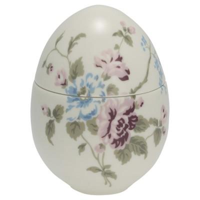 Шкатулка-яйцо Maude white small