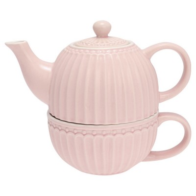 Чайник с чашкой Alice pale pink