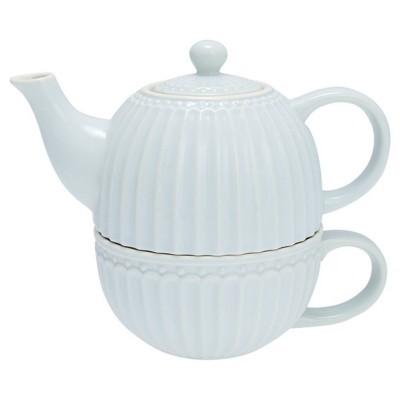 Чайник с чашкой Alice pale blue