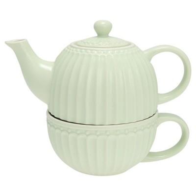Чайник с чашкой Alice pale green 500 мл/ 250 мл
