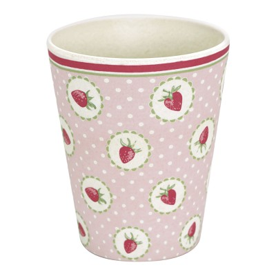 Бамбуковый стакан Strawberry pale pink