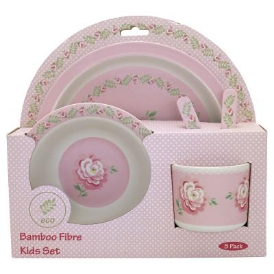 Набор детской посуды из 4-х предметов Lily petit white